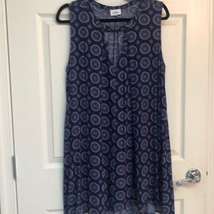AaKaa Royal Blue with cream dress or long tunic